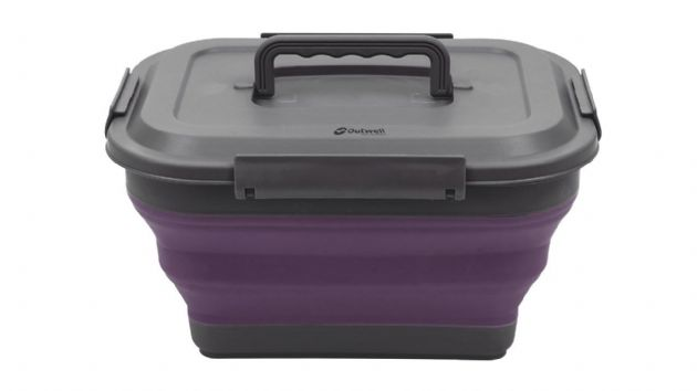 Outwell Collaps Collapsible Storage Box M Plum, Camping & Outdoor Leisure Accessories - Grasshopper Leisure